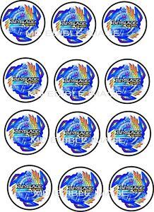 Beyblade Burst Edible Icing Image Cupcake Toppers 12 X 2