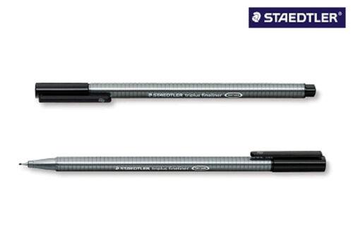 5 x STAEDTLER Feinschreiber triplus® fineliner 334-9 schwarz 0,3mm Dreikant NEU