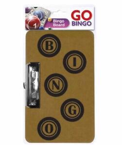 Bingo-Ticket-Game-Board-Metal-Clip-Hanging-Clasp-22cm-x-15cm-Clipboard