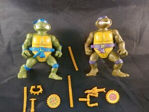 Teenage-Mutant-Ninja-Turtles-Storage-Shell-Leo-amp-Don-1990-Playmates-Vintage