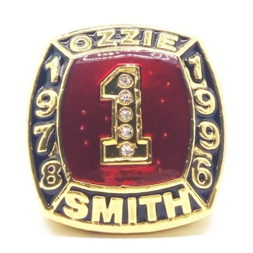 1978 1996 OZZIE SMITH #1 hall of fame sport ring US size 11