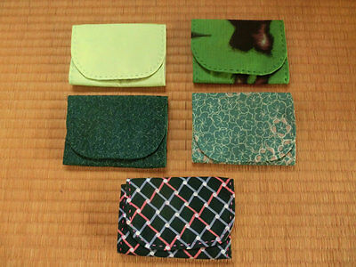 Boro Silk Kasuri Japanese Fabric  Handmade 5p Business Card Holder Not In Use