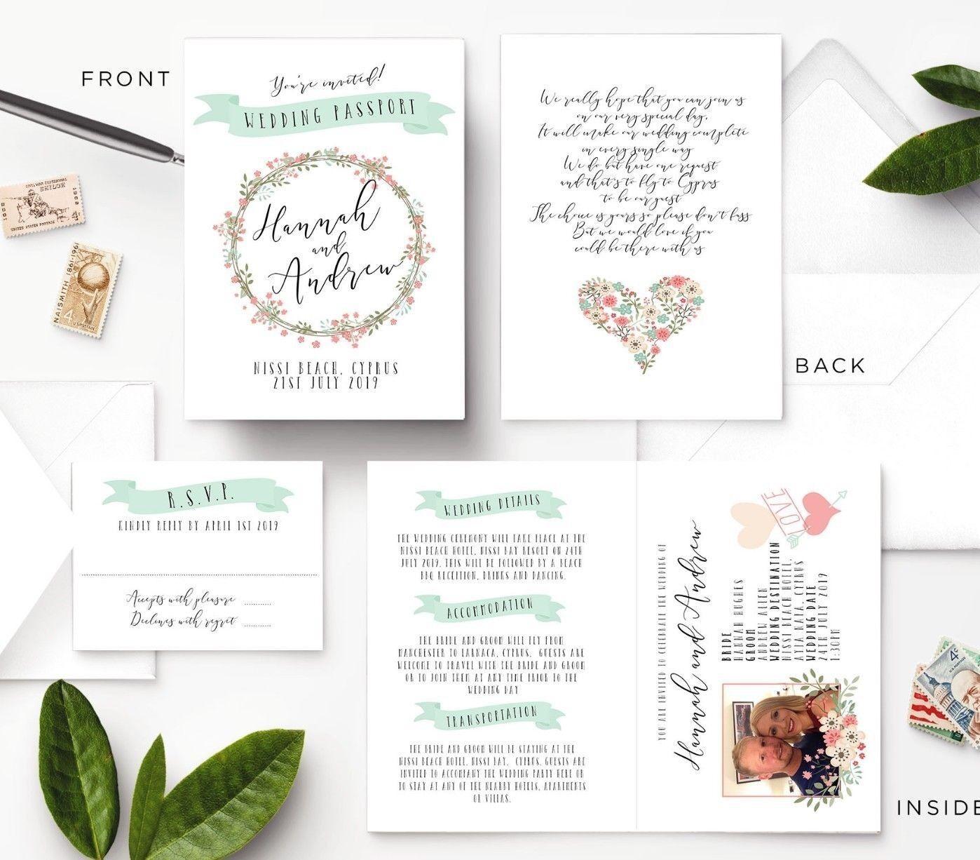 Personalised Inviti-passaporto, Wedding Day & Sera Inviti-passaporto, Personalised DESTINAZIONE, Viaggi 1c5890