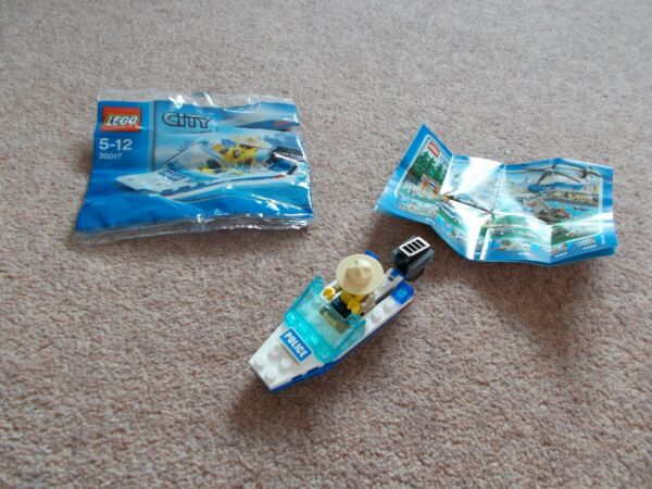 Doux Lego City 30017 Police Boat Complet Polybag Set Avec Instructions Sans Retour