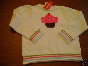 NWT Gymboree Cupcake Cutie sweater cherry sprinkle 4 4t