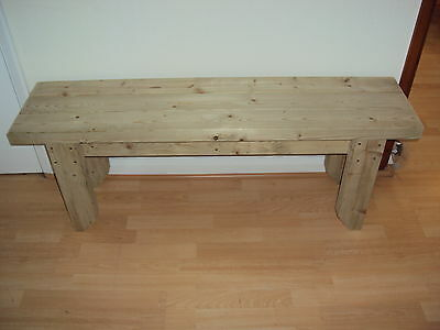 Quality Handmade Garden-kitchen-Dining-utility Bench Sturdy And Solid 4FT 8in