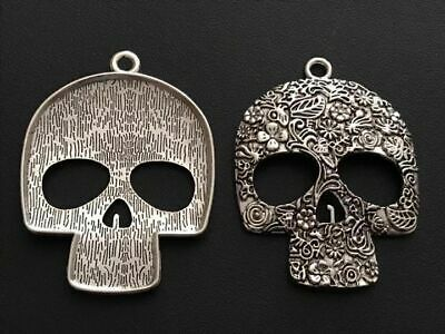 Skull Charm//Pendant Tibetan Antique Silver 5-40mm  30 Grams Accessory Jewellery