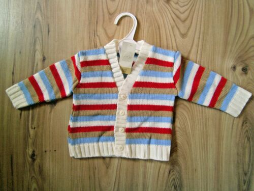 Baby Girl//boy Color stripes//pink//white Knitted Cardigan 0-3-6-9-12-18-23 Meses