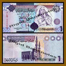 Libya 1 Dinar Gaddafi//Monument//p71 UNC 2009