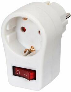 Brennenstuhl-Steckdosenadapter-weiss-Schuko-Dose-mit-Schalter-amp-Beruehrungsschutz