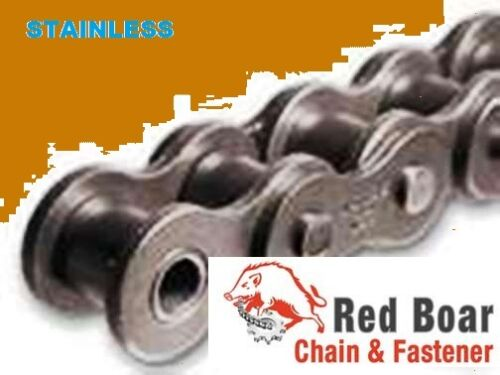 #80SS STAINLESS ROLLER CHAIN 10FT NEW FROM FACTORY  ANSI #80SS-1R