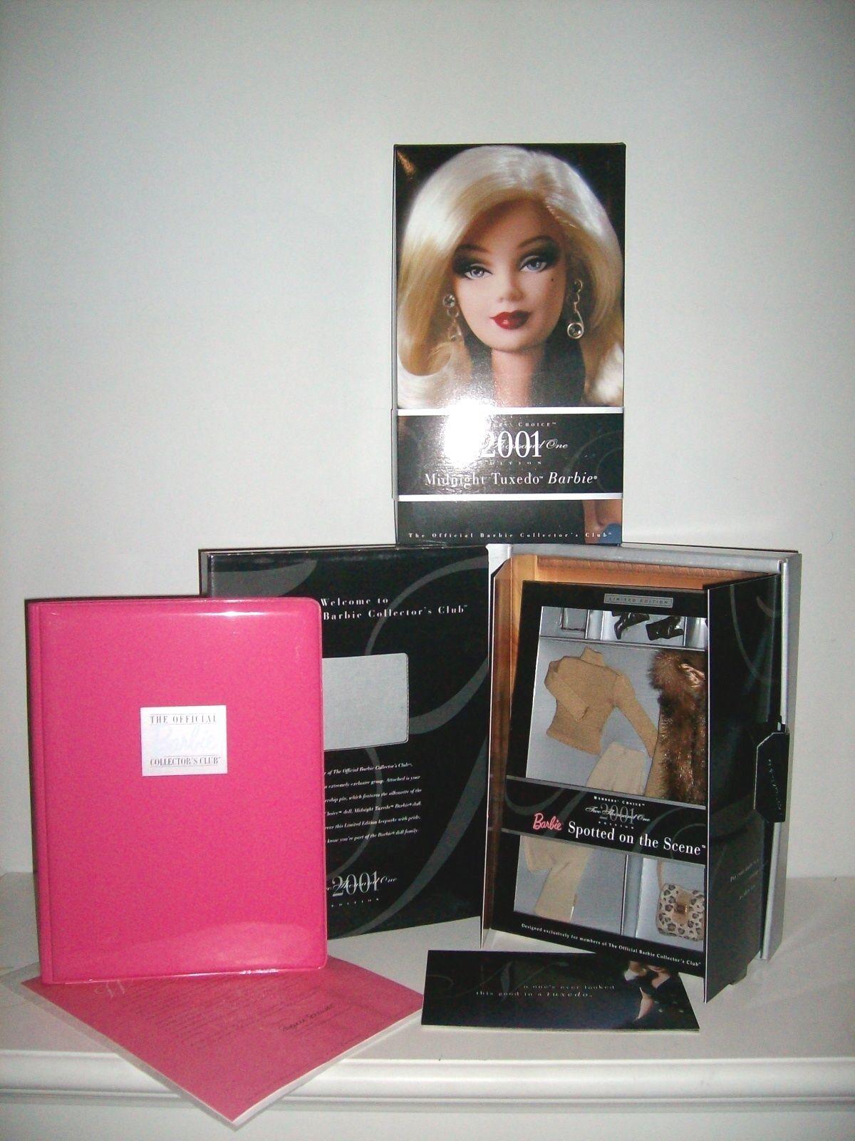 Esmoquin de medianoche Barbie y manchado en la escena Collector's Club Kit de membresía