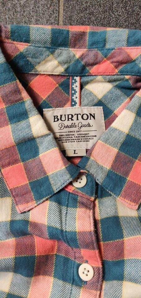 Andet, Burton plaid skjorte WOMAN, str. L