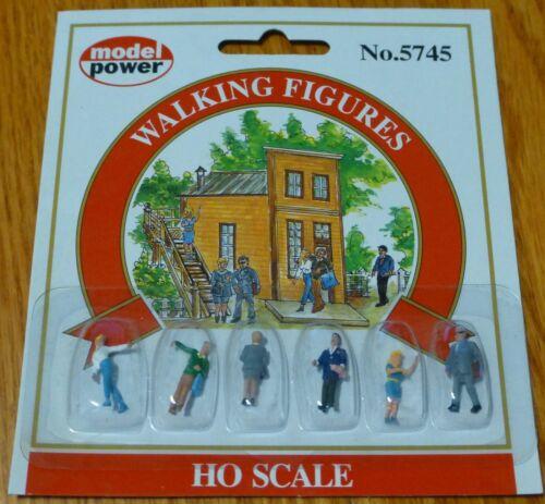 - 6 Model Power #5745 Pedestrians pkg Walking Figures
