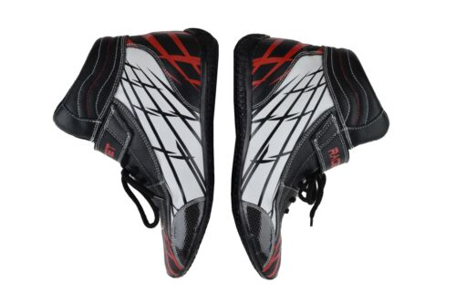 Details about  /RACE SHOES MID TOP BLACK RED WHITE GRAPHICS SFI 3.3//5 YOUTH SIZE 6