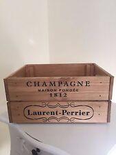 Cosecha de madera Laurent-Perrier champán wine Cajón Caja de Almacenamiento Shabby Chic