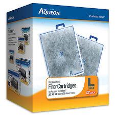 Aqueon Filter Cartridges for QuietFlow 20, 30, 50, 55, & 75 Large 12pk