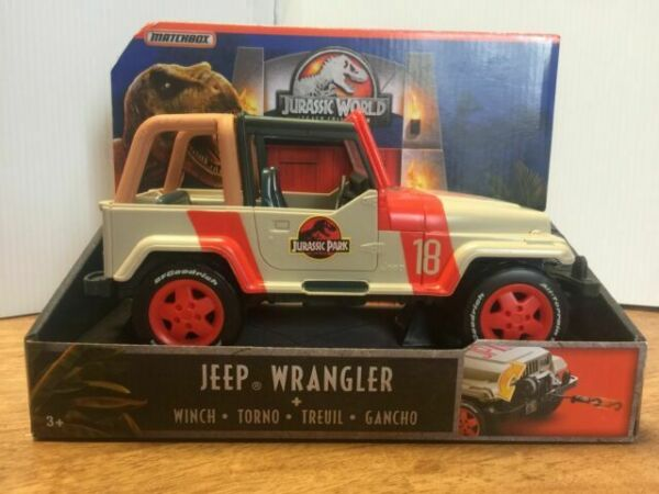 """Rare Jurassic World Jeep Wrangler 8/"""" with Winch Legacy Collection"""