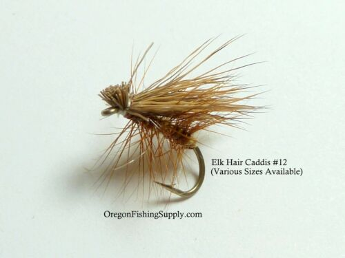 Choose #16, #12 FREE shipping on All Additional Items! Elk Hair Caddis,6 Fly
