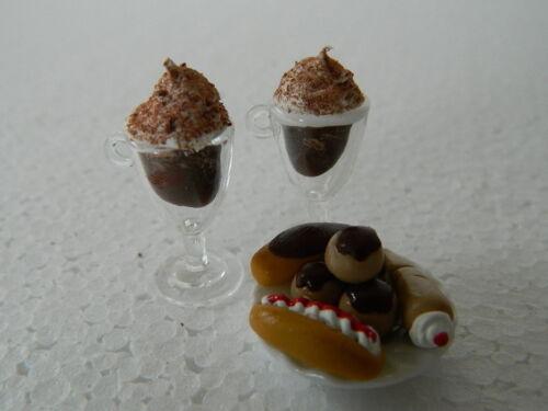C.24 Casa De Muñecas Hecho a mano de café con leche /& Surtido Mini Tortas