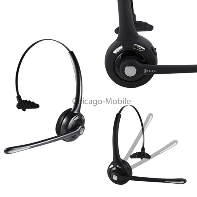 Delton 10X Noise Cancelling Wireless Bluetooth Universal Headband Headset Black