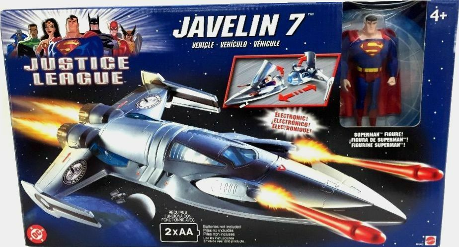 Justice League Electronic JAVELIN 7 with Superman New Factory Sealed 2003