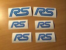 FORD RS Aufkleber Set Sticker Focus ST Fiesta Kuga Ecosport B C S Max NEU