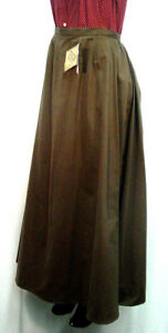 Ladies-Victorian-Old-West-style-walking-skirt-Brown-Sizes-XSmall-to-XXLarge-New