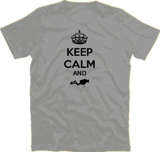 Keep Calm and Dive Diver Tauchen Taucher T-Shirt S-XXXL