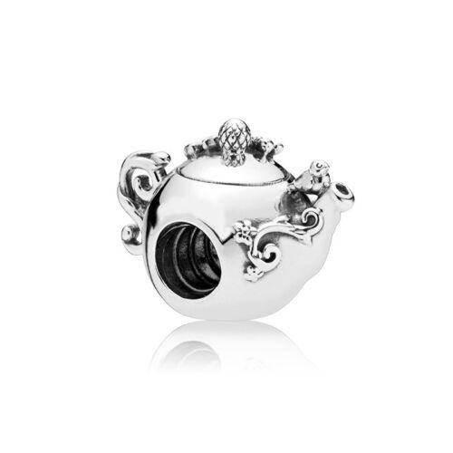 4PCS Silver Teapot Charm beads fit European Bracelet
