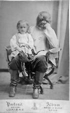 Photo. 1874-6. Circus Sideshow Freak A. Jeftichew - Dog Faced Boy and Son