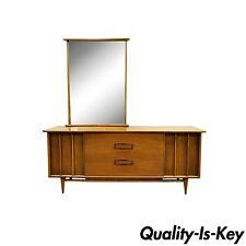 Vintage Mid Century Modern Kent Coffey The Eloquence Walnut Dresser & Mirror