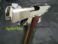 METAL 1911A1 CHROME ITALY MOVIE PROP Pistol Replica Hand Gun Training COLT 45