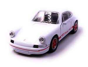 PORSCHE-CARRERA-RS-voiture-de-sport-voiture-miniature-voiture-Rouge-Blanc-echelle-1-34-LGPL