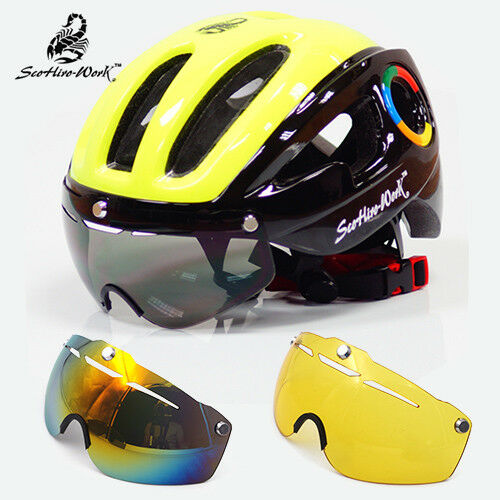 Cycling Helmet MTB Road Bike Sport Helmet Sun Visor EPS Bicycle Helmet With Lens
