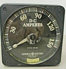 General Electric 8db10aaa2 Panel Meter Dc Amperes 0 150 1242272