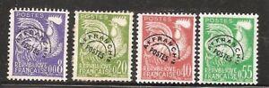 Timbres France Oblitérés - Préoblitérés 119 à 122.
