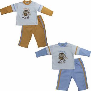 New Baby Boys 2 Piece sets long Sleeve Top and Pants Size 3 6 9 months