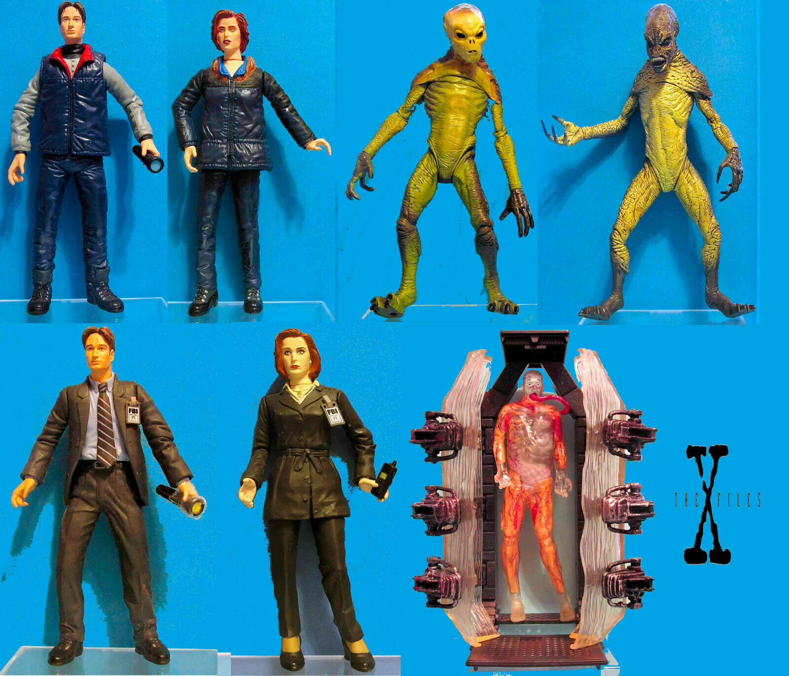 7 Different X-Files 1998 1998 1998 McFarlane Action Figures dec8f7