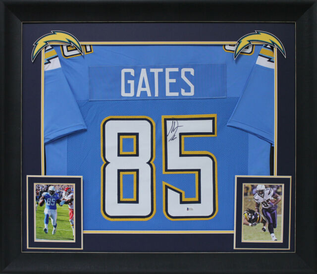 Chargers Antonio Gates Authentic Signed Powder Blue Framed Jersey ...