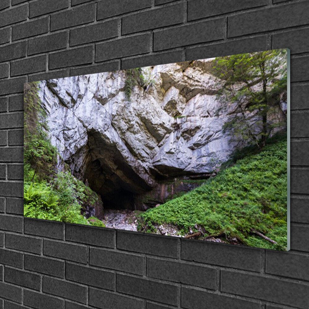 Noël fou Plexiglas® saisir grand concours Tableau sur Plexiglas® fou Image Impression 100x50 Nature Caverne De Montagne ad00bb