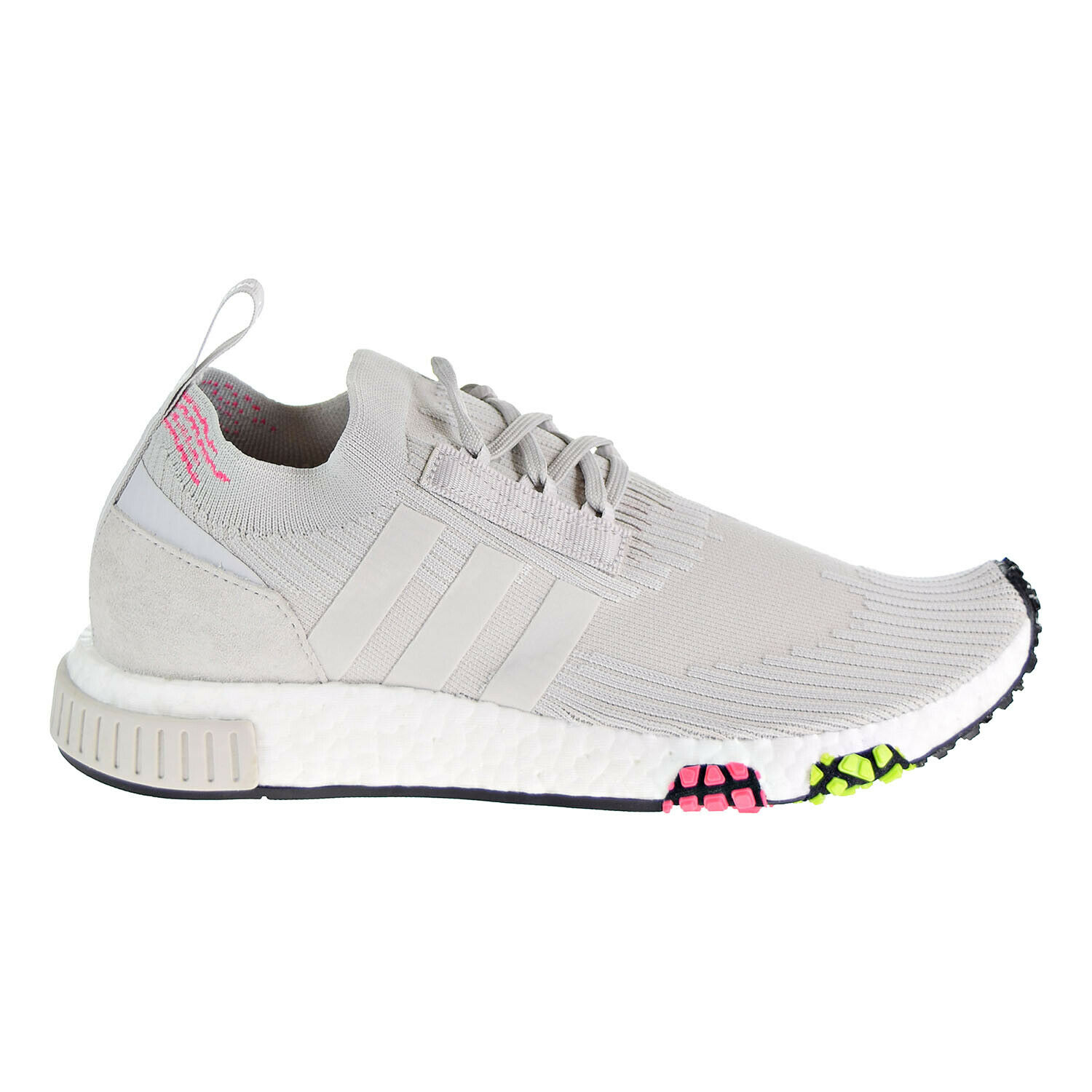 Adidas NMD_Racer Primeknit Men's shoes Grey One Solar Pink CQ2443