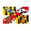 Baltimore-Ravens-Baltimore-Orioles-Natty-Boh-Maryland-Terrapins-Flag thumbnail 2