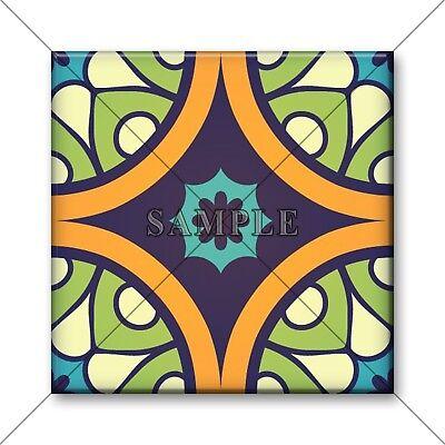 Moroccan Tile Design Bright Colors