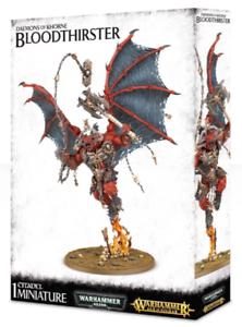 Los Demonios del Caos de Warhammer 40k AoS  Khorne Bloodthirster GW 97-27 Nuevo En Caja
