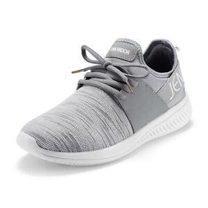 JENN-ARDOR-Women-Gray-Athletic-Running-Shoes-Slip-On-Casual-Comfortable-Sneakers