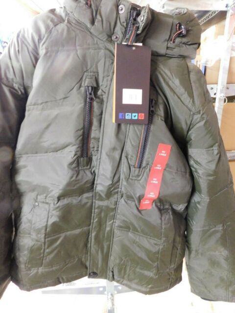 ce083e89c Men's Hawke & Co Down Filled Hooded Parka Jacket Hdp639 Dark Mantas M L  Large