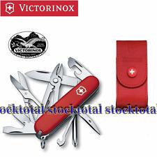 Navaja Victorinox Tinker Deluxe con funda de piel roja SWISS MADE one .