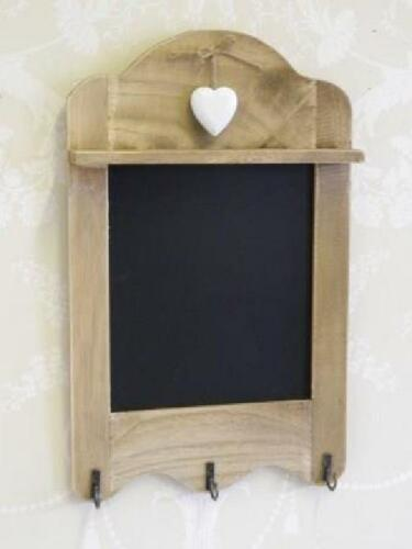 Wall Mounted Coat Rack Wooden Blackboard Memo Unit Shelf Hooks Stand Hat Clothes