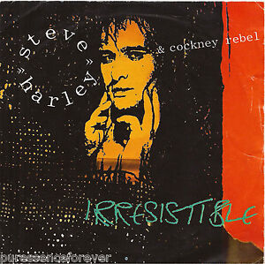 STEVE-HARLEY-COCKNEY-REBEL-Irresistible-UK-2-Tk-1985-7-Single-PS